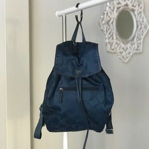 Coach Signature Nylon Getaway Backpack Bag F30781